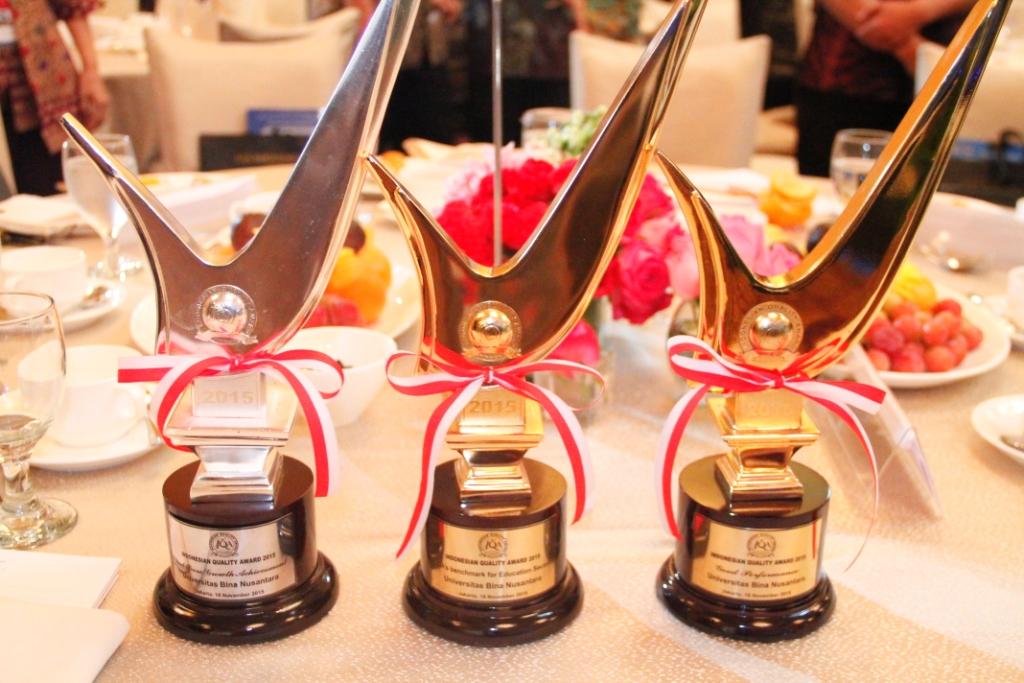 Award IQA 2015 yang diraih oleh BINUS University