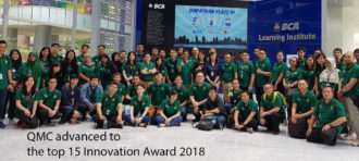 QMC advanced to the top 15 Innovation Award 2018